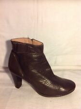 Unisa Brown Ankle Leather Boots Size 38