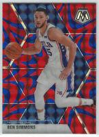 2019-20 Panini Mosaic Blue Reactive prizm  #149 Ben Simmons Phila 76ers NBA