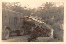 Engl. Beute Artillerieschlepper Moris C8 Balkenkreuz Unfall Gabes Tunesien