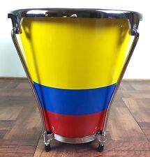 Caja Vallenata Drum Tambores Barranquilla Pintada Con Bandera De Colombia
