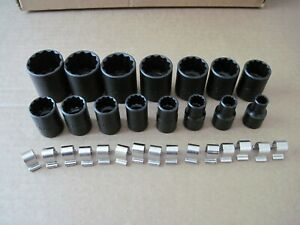 "PROTO J54302 1/2"" SAE Black Oxide TorquePlus 15 pc. Non-Impact Socket Set 12pt"