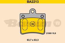 Bremsbelagsatz, Scheibenbremse BARUM BA2213 hinten für MERCEDES-BENZ