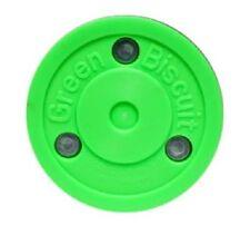 Bauer-Green Biscuit Stick handling Puck. diámetro = 75mm. muy buen deslizarse.