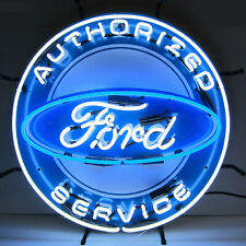 Neon Sign Ford Dealership Service Garage wall lamp light Mustang F-150 V8 truck