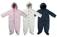 Ralph Lauren Polo Baby Quilted One Piece Snowsuit Jacket Pink/White/Navy New
