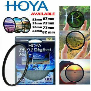 HOYA 52 55 58 62 67 72 77 82mm Slim Digital Camera Filter CIR-PL/ UV DMC