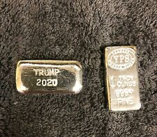 1 oz Hand Poured 999 Silver Bullion Bar by Yeager's Poured Silver - Trump 2020