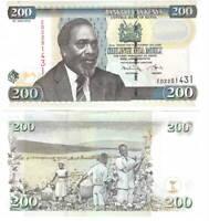 UNC Kenya 200 Shillings (2010) P-49e
