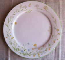 """NORITAKE IVORY CHINA REVERIE 7191 Wildflowers & Butterfly Dinner Plate 10 1/2 """""""