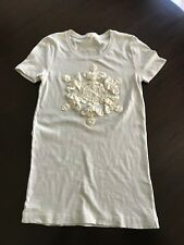 J crew Factory Snowflake Ruched Graphic Tee