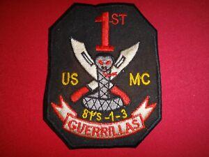"USMC 3rd Battalion 1st Marine Division ""GUERRILLAS"" Vietnam War Patch"