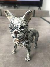 FRENCH BULLDOG BERGMAN COLD PAINTED BRONZE DOG FOUNDRY MARK RARE