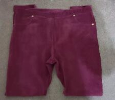 Store Twenty One Womens Cord look Cotten Trousers Burgandy Size M