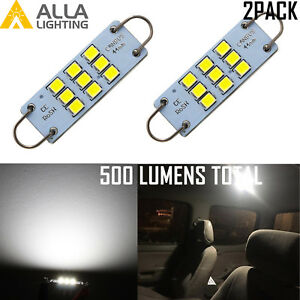 Alla 9-LED 562 Interior Courtesy Dome Map Light Bulb Luggage Trunk Light Bulb 2X