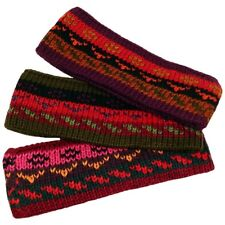 Alpaca Wool Heavy Knit Geometric Headband Hair Lot Wholesale 6 Pack Assorted Mix