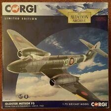 Corgi Aviation Gloster Meteor F3 EE246 YQ-A 616 Squadron Lubeck 1945 AA27401 NEW