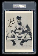 CHUCK CONNORS SIGNED PHOTO PSA/DNA SLABBED LOS ANGELES ANGELS PCL AUTOGRAPHED