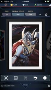 Topps marvel collect ALEX ROSS EPIC MIGHTY THOR (516CC)