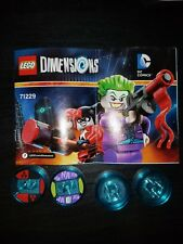 LEGO 71229 Dimensions  Joker Harley Quinn Team Pack DC Comic Just Game Discs New