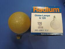 Radium Globe E27 100W G120 Lámpara de globo Cristal De Hielo Ámbar G125