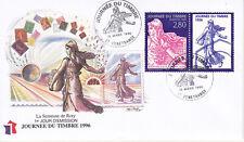 Enveloppe 1er jour FDC Soie 1996 - Journée du timbre La Semeuse de Roty