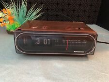 Vintage Panasonic RC 6015 Flip Clock Radio Back to the Future WORKS New Bulb
