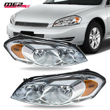 For 06 13 Chevy Impala Clear Lens Headlights Headlamps Chrome Replacement Pair Fits 2006 Impala