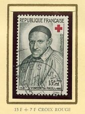 STAMP / TIMBRE FRANCE OBLITERE N° 1187 CROIX ROUGE SAINT VINCENT DE PAUL