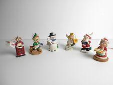 6 MARATHON Oil CHRISTMAS Ornaments W/Tag for 2002-2003 Gas Pump Angel Snowman +