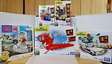 New Mega Bloks Minions Sets Lot Supervillain Jet, vespa, vampire & more 950 PCS!