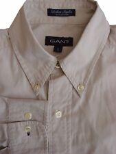 GANT Shirt Mens 14.5 S Light Grey WASHER POPLIN