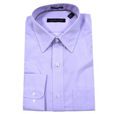 Tommy Hilfiger Dress Shirt Mens Long Sleeve Button up Spread or Point Collar Regular 16 1/2 34/35 Wild Orchid