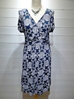 Fat Face Dress/Tunic ~ Size 12 ~ Blue White ~ Cap sleeve ~ Casual Everyday -1892