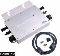 MPPT 600W Waterproof Grid Tie Inverter DC22-50V Pure Sine Wave Inverter 110/220V