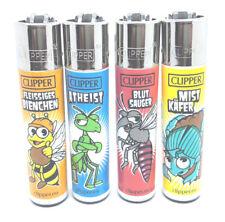 4er Set CLIPPER Classic Original Feuerzeug INSEKTEN FUNNY INSECTS