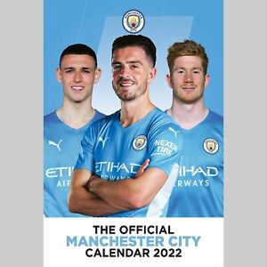 Manchester City Football Club 2022 A3 Wall Calendar