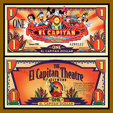"Disney 1 Dollar ""El Capitan Dollar"", 2001 Series ""AZ"" Uncirculated"