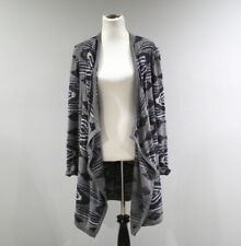 Lucky Brand Open Cardigan Sweater Womens Large L Aztec Print