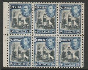 Bermuda 1938-51 3d Booklet pane of six CW P5 Mnh.