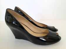 Clarks Wedge Peep Toe Patent Leather Heels for Women