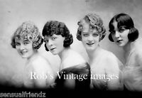Vintage Ladies Glamor Gals Roaring 20s  Photo 1920s Flappers Jazz Prohibition