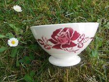 PETIT  BOL  ANCIEN   DIGOIN  FRISE ET  ROSE     / OLD  BOWL  10,5  X 6 cm