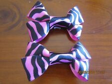 pink tiger stripe hair clips made by me :) hair dance party gift