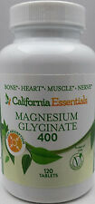MAGNESIUM GLYCINATE-BONE + HEART + MUSCLE + NERVE HEALTH 400mg-FREE SHIP