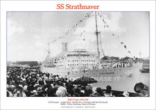 SS STRATHNAVER P&O LINE SHIP A3 POSTER PRINT PICTURE IMAGE PHOTO x