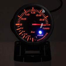 "60mm 2.5"" Vehicles Car LED Turbo Boost Vacuum Press Pressure Gauge Bar Meter 12V"