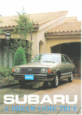 Subaru 1300 1600 1800 4WD 1979-80 Original UK Sales Brochure Pub. No. 76T.80.2.E