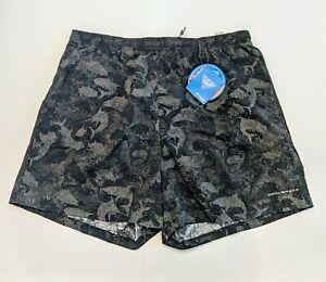 Columbia PFG Mens Large Omni Shade Grey Fish Camo Ocean Swim Trunks Shorts
