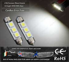 LED SMD 38mm 39mm C5W Festoon Xenon White CanBus License Licence Plate Lights