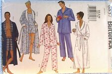Butterick Pattern 6837 Unisex Robe Belt top Shorts Pants Sizes XS S M Uncut